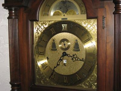 Closeup of clock face