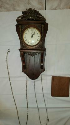 How much is this Dutch clock from 1756 worth?