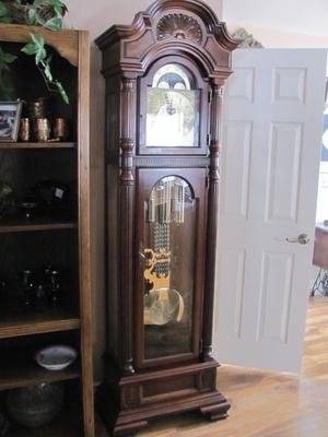 Charles R Sligh Grandfather Clock 1987 Mod 0820