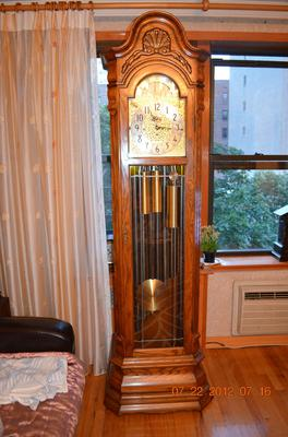 Herschede Grandfather Clock 124 Thomas Jefferson 9 Tube