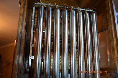 Herschede Grandfather Clock #124 thomas jefferson 9 tube