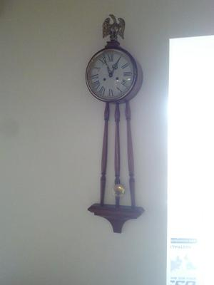Colonial MFG wallmount grandfather clock