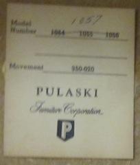 Pulaski clock number is 1057  and serial  1015