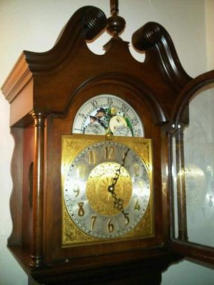 Colonial Grandfather Clock face only