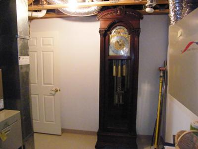 Turn of the Century Tall Case Colonial Mfg. Clock