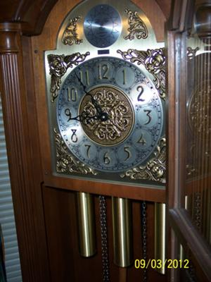 Colonial grandfather clock weights