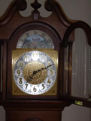 Colonial of Zeeland Grandfather Clock face