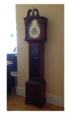 Daneker 'Grandmother' Clock about 6 feet high.
