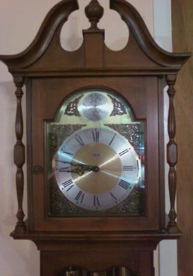 Close-up of clock face